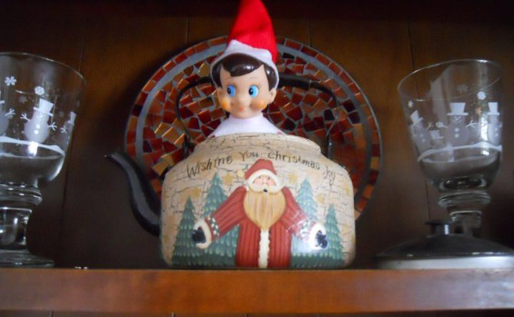 elf in a teapot