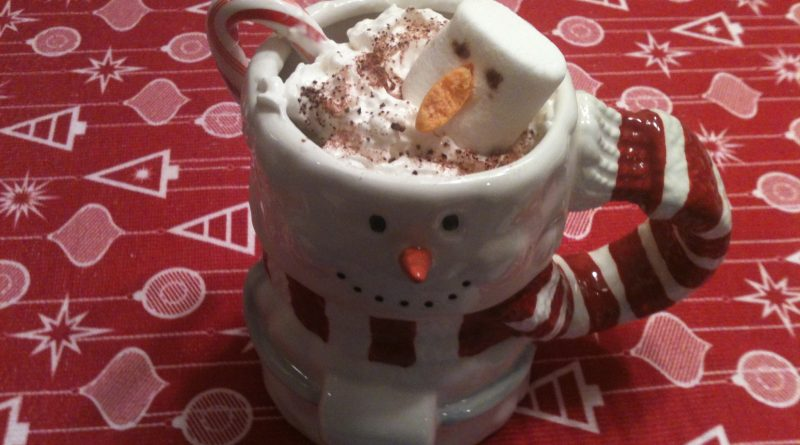 Mug of snowman hot cocoa
