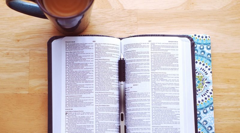 morning coffee and bible
